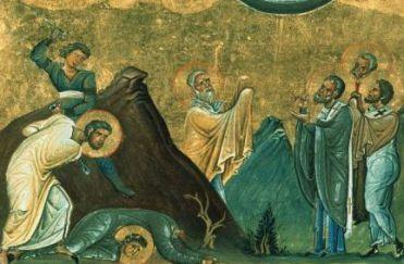 26 juillet : Saint Eraste de Corinthe 1200px-Erastus_2C_Olympus_2C_Rhodion_2C_Sosipater_2C_Quartus_and_Tertius__28Menologion_of_Basil_II_2