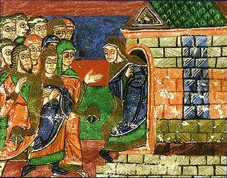 13 août : Sainte Radegonde de Poitiers 330px-Radegonde_se_retire_dans_le_monast_C3_A8re_d_C3_A9di_C3_A9__C3_A0_la_Vierge