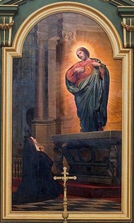16 octobre : Sainte Marguerite-Marie Alacoque 800px-Cath_C3_A9drale_Notre-Dame-de-l_27Assomption_de_Montauban_-_Vision_de_Marguerite-Marie_2C_reli