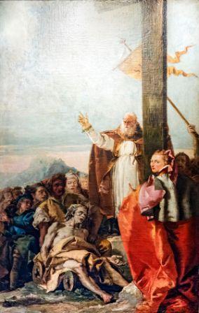 10 mars : Saint Macaire de Jérusalem Chiesa_di_San_Polo__28Venice_29_-_Oratorio_del_Crocifisso_-_Saints_Helena_and_Macarius_by_Giandomeni