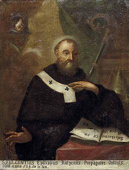 1er janvier : Saint Fulgence de Ruspe Fulgentius_von_Ruspe_17Jh0