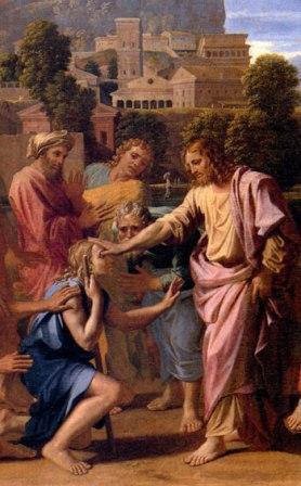 7 novembre : Saint Restitut (Saint Sidoïne) Guerison-aveugle-Poussin