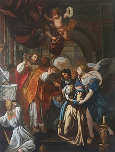 30 juin Saint Martial de Limoges La-Messe-de-Saint-Martial-Tableau-Cathedrale-de-Limoges