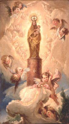 Saint du jour - Page 2 La_Virgen_del_Pilar__28Bayeu_29