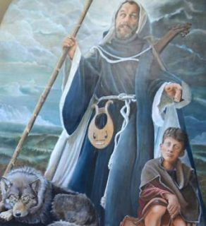 Saint du jour - Page 34 Af85185a13460804b3196cfb9230b4dc-le-tableau-de-saint-herve-expose-la-mairie