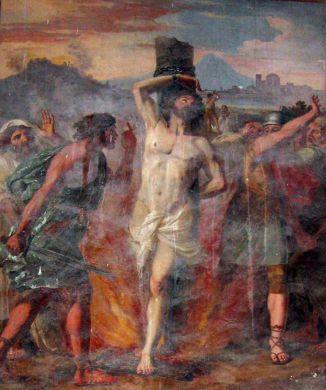 23 février Saint Polycarpe de Smyrne Circignani_martyrdomofstpolycarp