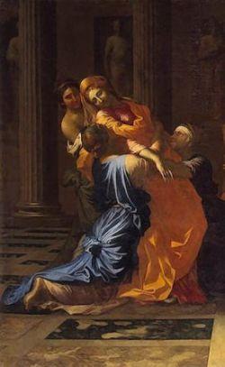 20 décembre : Sainte Esther  Esther-poussin
