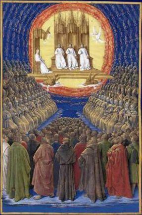 1er novembre Fête de tous les Saints  La_trinite_et_tous_les_saints_fouquet