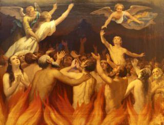 Saint Stanislas Kostka rencontre une âme du Purgatoire Purgatoire2