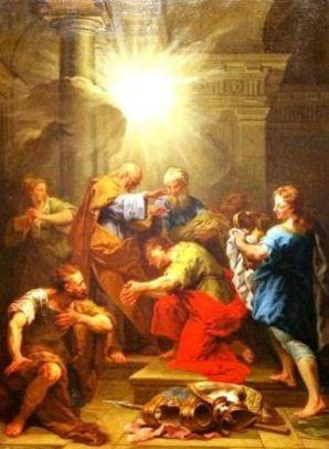 25 janvier Saint Ananie de Damas  Saint-paul-et-ananie---jean-restout0
